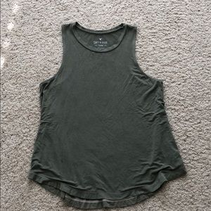 American eagle soft & sexy muscle tank army green